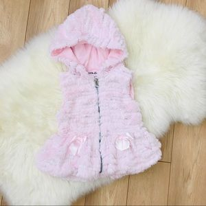 Baby Girl furry vest size 9-12 months